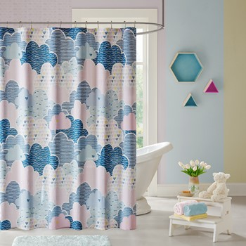 Cloud Cotton Printed Shower Curtain
