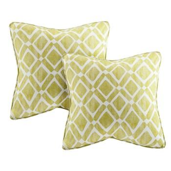 Delray Diamond Printed Square Pillow Pair