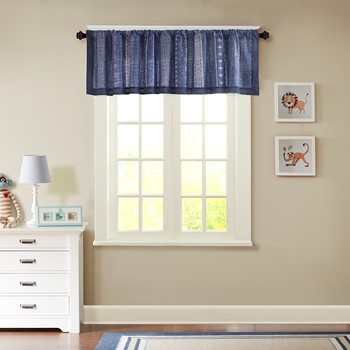 Oliver Printed Cotton Window Valance