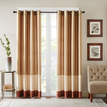 Conner Pieced Polyoni Window Curtain