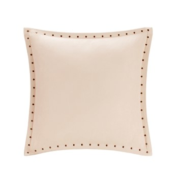 Alban Stud Trim Microsuede Square Pillow