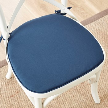 Pacifica Solid 3M Scotchgard Indoor/Outdoor Chair Pad Pair