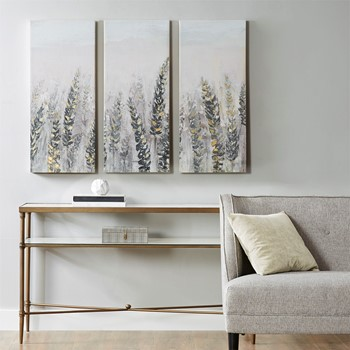Emmer Fields Printed Canvas with Gold Foil 3 Piece Set
