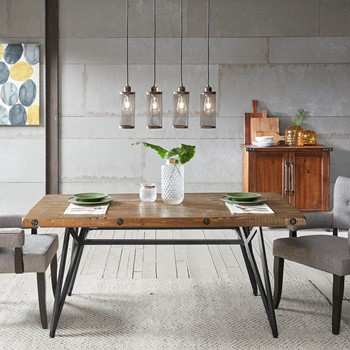Trestle dining gathering table