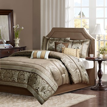 Bellagio 7 Piece Jacquard Comforter Set