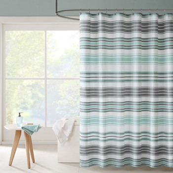 Ana Puckering Stripe Shower Curtain