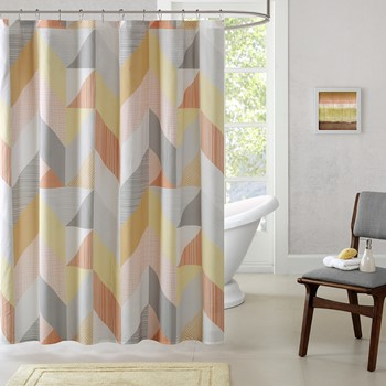 Annalise Cotton Printed Shower Curtain