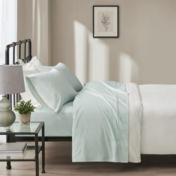 Oversized Flannel Cotton 4 Piece Sheet Set