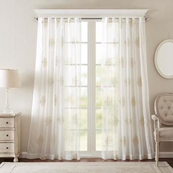 Massa Embroidered Sheer Window Curtain