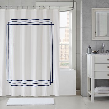 Elloy Applique Shower Curtain