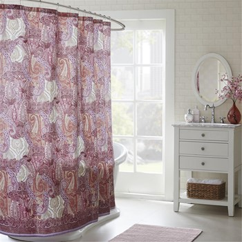 Florentina Cotton Printed Shower Curtain