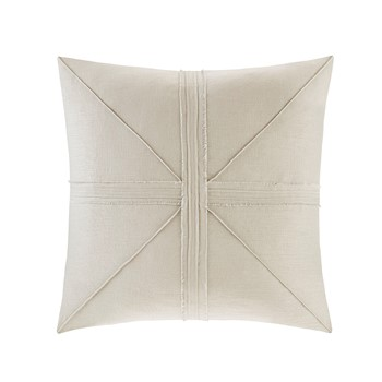 Avella Oversized Linen Frayed Decorative Pillow