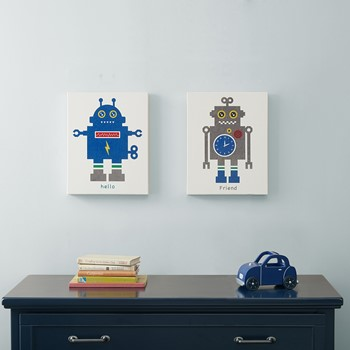 Mr. Robot and Friend Gel Coat Canvas 2 Piece Set