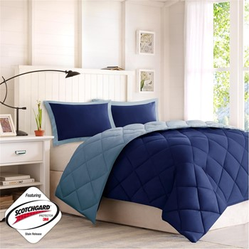 Larkspur Reversible Down Alternative 3M Scotchgard Comforter Mini Set