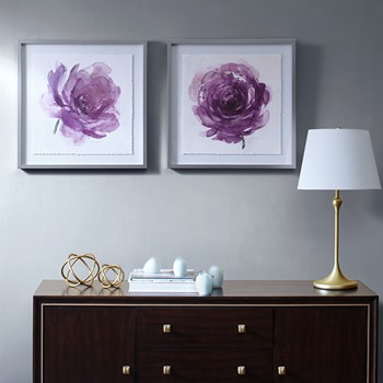Purple Ladies Rose Frame Graphic 2 Piece Set