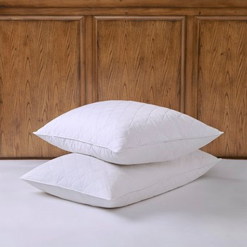 300TC Quilted Feather Pillow (Set of 2)