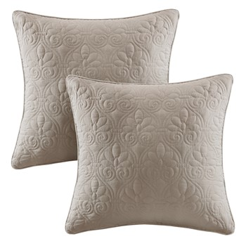Quebec Quilted Square Pillow Pair