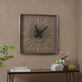 Hastings Metal Wall Clock With Glass