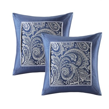 Aubrey Jacquard Square Pillow Pair