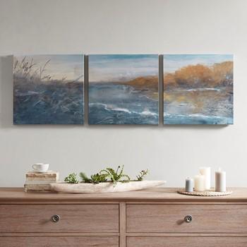 River Side Gel Coated Canvas Set of 3