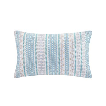 Bukhara Embroidered Cotton Oblong Decorative Pillow