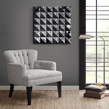 Symmetrical Grain Printed Canvas With Glass Coat
