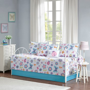 Fluttering Farrah 6 Piece Reversible Daybed Set