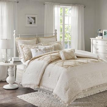 Mindy 9 Piece Cotton Percale Comforter Set