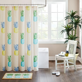 Kona Cotton Printed Shower Curtain