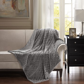 Victoria Oversized Textured Plush Throw
