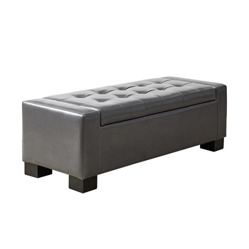 Mirage Tufted Top Storage Bench