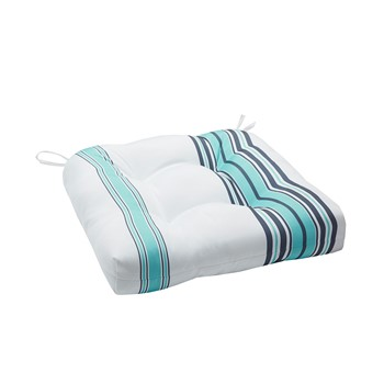 Newport Printed Stripe 3M Scotchgard Outdoor Seat Cushion