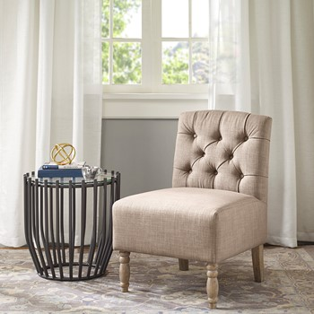 Lola Tufted Armless Chair