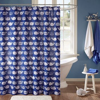 Moby Cotton Printed Shower Curtain