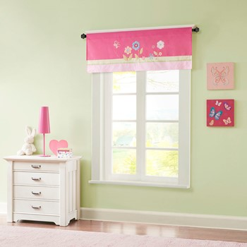 Spring Bloom Printed and Applique Valance