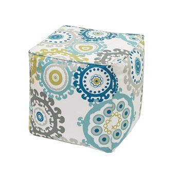 Laguna Printed Medallion 3M Scotchgard Outdoor Square Pouf