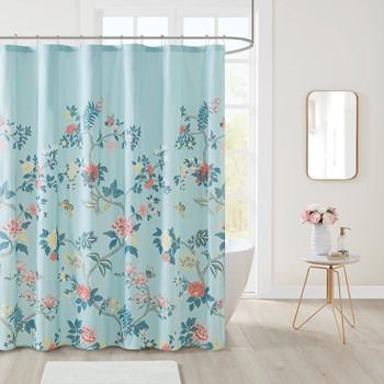 Charleston Garden Printed Seersucker Shower Curtain