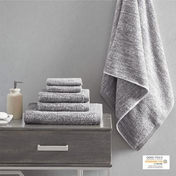 Melange 100% Turkish Cotton Intermingle Jacquard 6 Piece Towel Set