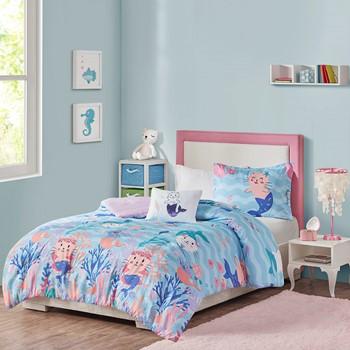 Playful Purrmaids Printed Comforter Set