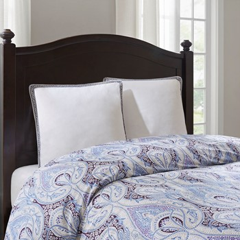 Ivy Paisley Embroidered Cotton Euro Sham