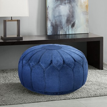 Kelsey Round Pouf Ottoman