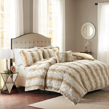 Zuri Faux Fur Duvet Cover Set