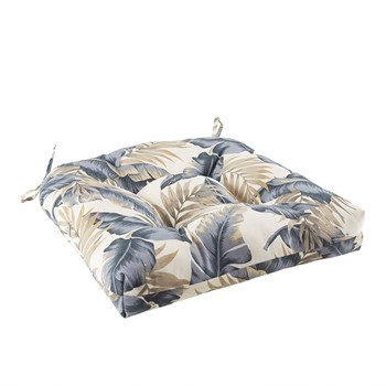 Coco Printed Leaf 3M Scotchgard Outdoor Seat Cushion