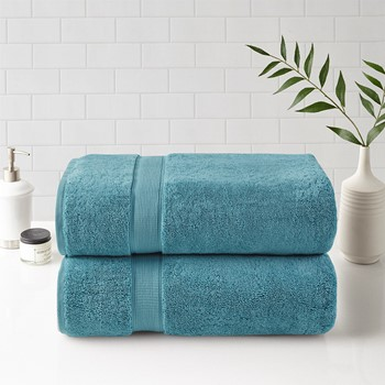 800GSM 100% Cotton Bath Sheet 2 Piece Set