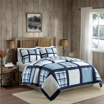 Huntington Reversible Oversized Cotton Quilt Mini Set