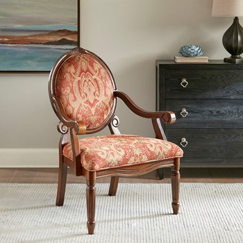 Brentwood Exposed Wood Arm Chair