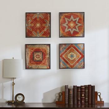 moroccan tile gel coat deco box 4pcs set - Wall Art Designer