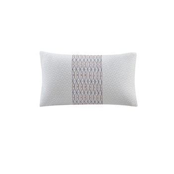 Avalon Embroidered Cotton Decorative Pillow