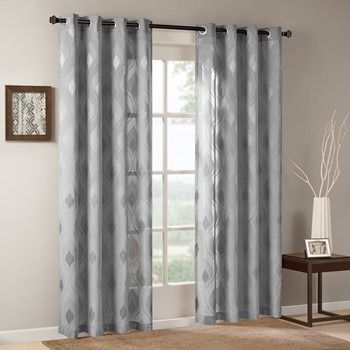 Adele Sheer Ogee Jacquard Window Curtain
