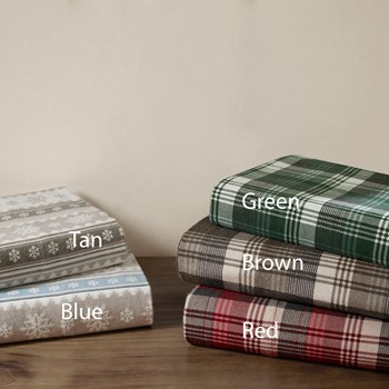 Nordic Snowflake Flannel Sheet Set